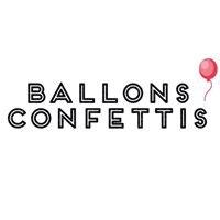 Ballons Confettis-Sweet Tables