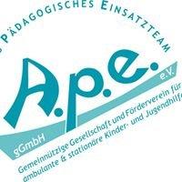 A.p.e. e.V. Ambulantes pädagogisches Einsatzteam