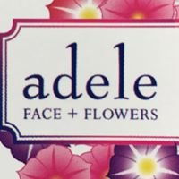 Adele Face and Flowers