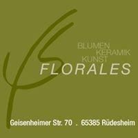 Florales  Blumen-Keramik-Kunst