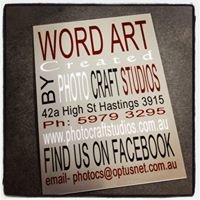 Word Art by Photo Craft Studios