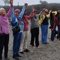 Hands across the sand Mendocino