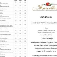 Marcella's Pizzeria & Family Restaurant     845-271-3414