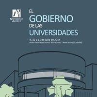 """Curso de verano """"El gobierno de las universidades"""""""