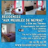 Aux meublés de Neyrac