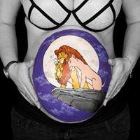Au plaisir des mamans - belly painting