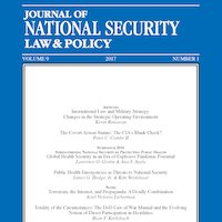 Journal of National Security Law & Policy