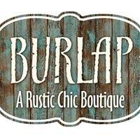 Burlap Rustic Chic Boutique