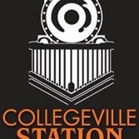 Collegeville Station behind Collegeville Diner