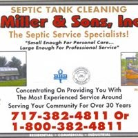 Miller & Sons, Inc. Septic and Wastewater Service