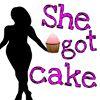 She got caked