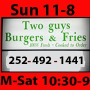 Two Guys Burgers and Fries Henderson NC