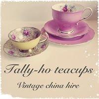 Tally-ho teacups