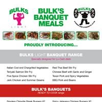 Bulk's Banquets- athlete's catering service