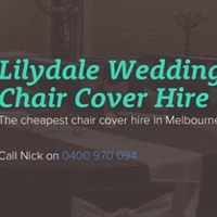 Lilydale Wedding Chair Cover Hire