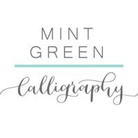 Mint Green Calligraphy