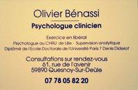 Olivier Bénassi Psychologue clinicien Psychothérapeute Superviseur analytique