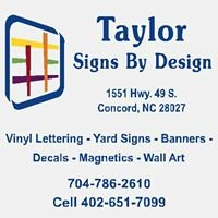 Taylor Signs By Design