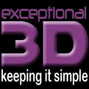 Exceptional 3D