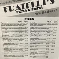 Fratelli's Pizza and Pasta