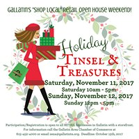 "Gallatin ""Tinsel & Treasures"" Holiday Merchant Open House"