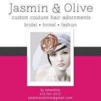 Jasmin & Olive custom couture hair adornments