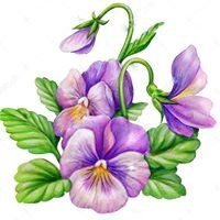 Purple Pansy Jewelry by Beth