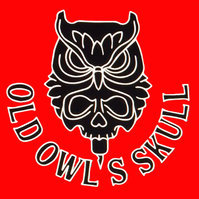 Old Owl's Skull tattoo Casoria