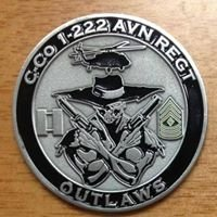 Official Charlie Company Outlaws 1-222 Aviation Regiment