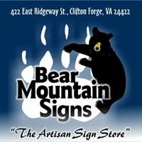 Bear Mountain Signs