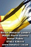 Notar Londra Mihail Florin Gavrila