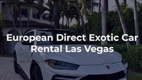 European Direct Exotic Car Rental Las Vegas