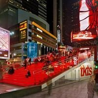 Times square (red stairs)