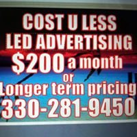 Cost U Less LED Advertising