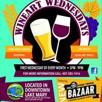 Wine Art Wednesdays at Downtown Lake Mary
