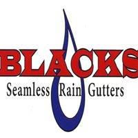 Blacks Seamless Rain Gutters
