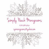 Simply Peach Monograms
