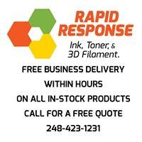 Rapid Response Ink, Toner, & 3D Filament