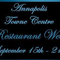 Annapolis Towne Centre Restaurant Week - Sept. 15th through 21st