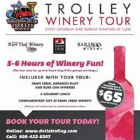 Trolley Winery Lunch Tour Wisconsin Dells