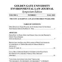 Golden Gate University Environmental Law Journal