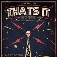 That's it recordings - Sin E open mic
