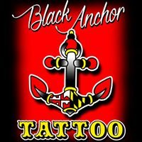 Black Anchor Tattoo