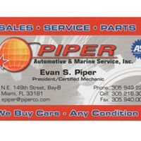 Piper Automotive & Marine Service, Inc.