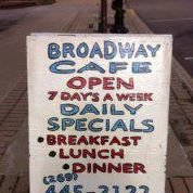 Broadway Cafe Cassopolis MI
