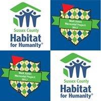 Walt Jones Memorial Project for Sussex County Habitat for Humanity