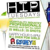 HIP Tuesdays at Dirty Martini