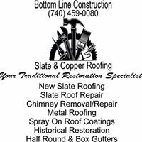 Bottom Line Construction Slate & Copper Roofing