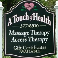 A Touch of Health, Massage Therapy