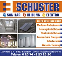 Schuster GmbH Iserlohn Sanitär Heizung Elektro